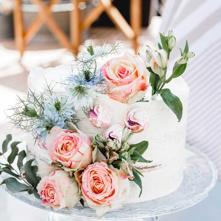 River Dream Wedding Cake